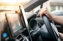 sat nav being used on a mobile phone legally